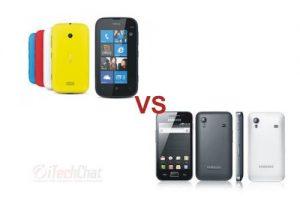 Nokia Lumia 510 vs Samsung Galaxy Ace S5830
