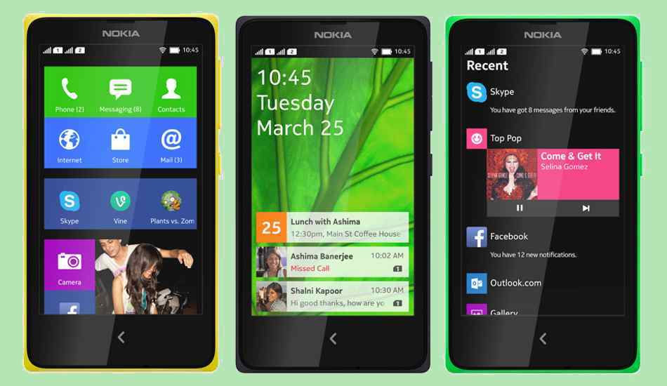 Nokia X family of Android phones
