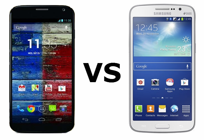 Motorola Moto X vs Samsung Galaxy Grand 2
