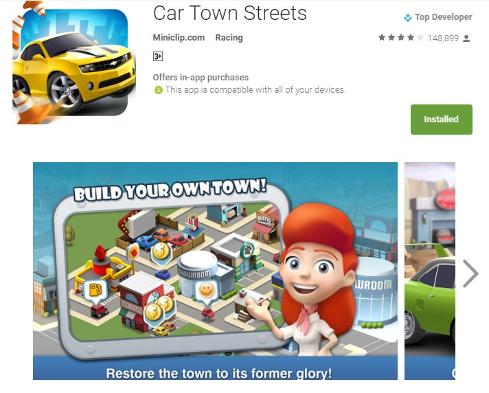 car town streets apk and review
