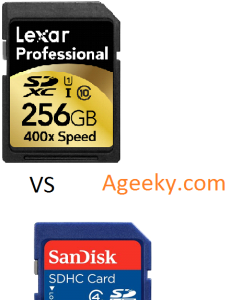 micro sdxc vs micro sdhc