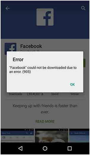 how to fix 905 error in google play store