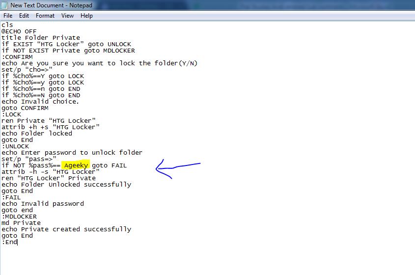 folder lock on pc