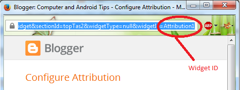 Removing Locked Widget in blogger