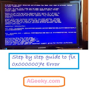 how to fix 0x0000007e error