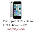 iPhone 5 stuck in Headphone Mode (fix)