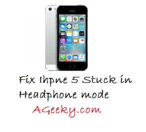 how to fix iPhone 5 stuck in Headphone Mode