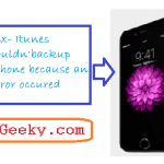 iTunes could not backup the iPhone because an error occurred (FIX)