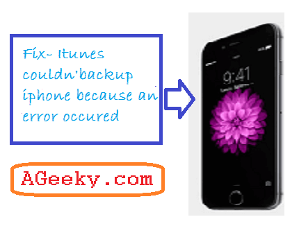 iTunes could not backup the iPhone-fix