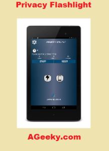 privacy flashlight app