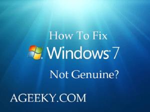 fix windows 7 not genuine