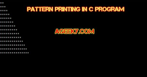 C Program to print Patterns