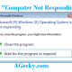 how to fix computer not responding