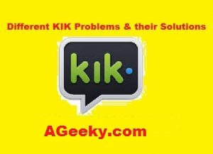 fix kik problems