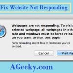 Best & Quick ways to fix 'Website Not Responding'