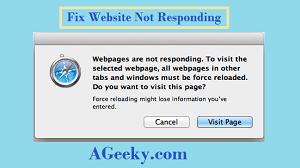website not responding fix