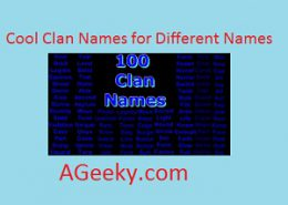 cool clan names
