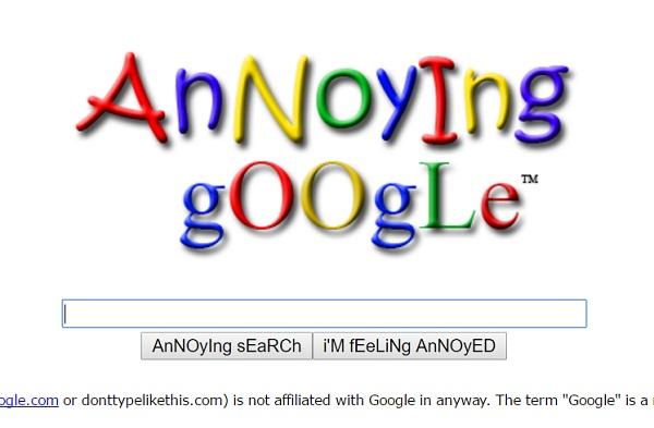 annoying google trick