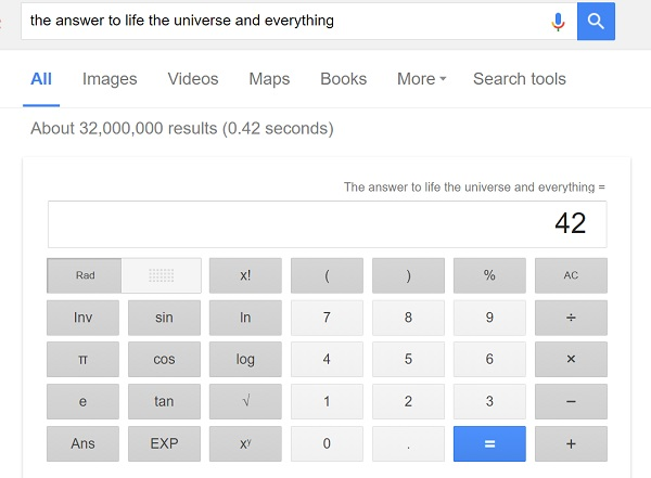 google 42 trick