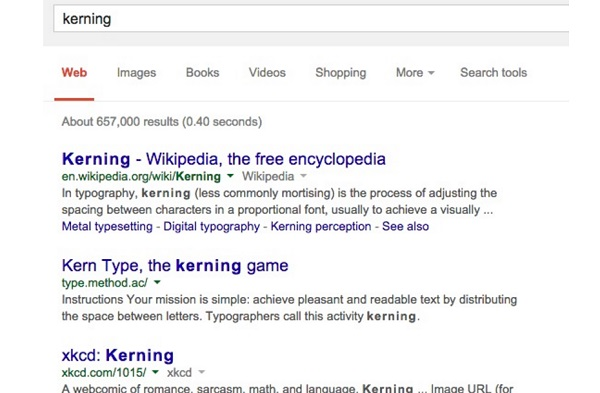 google kerning trick