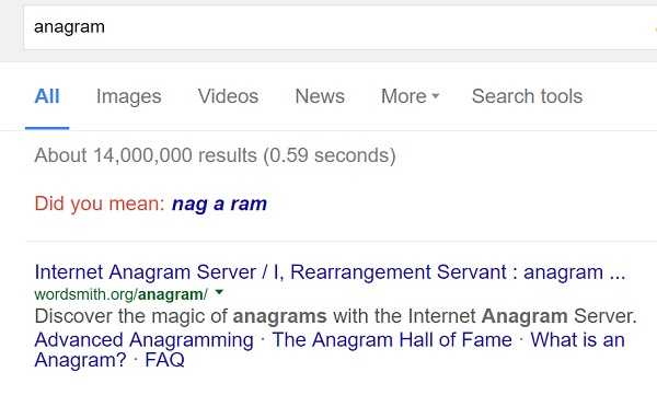 google nagging rams trick