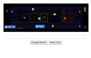 google pacman trick