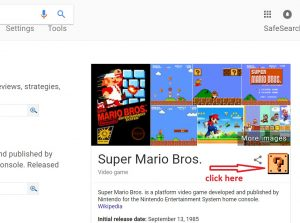 google super mario brothers trick