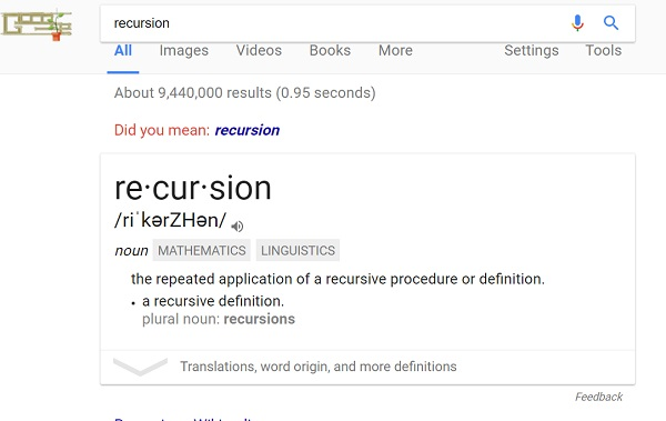 recursion trick